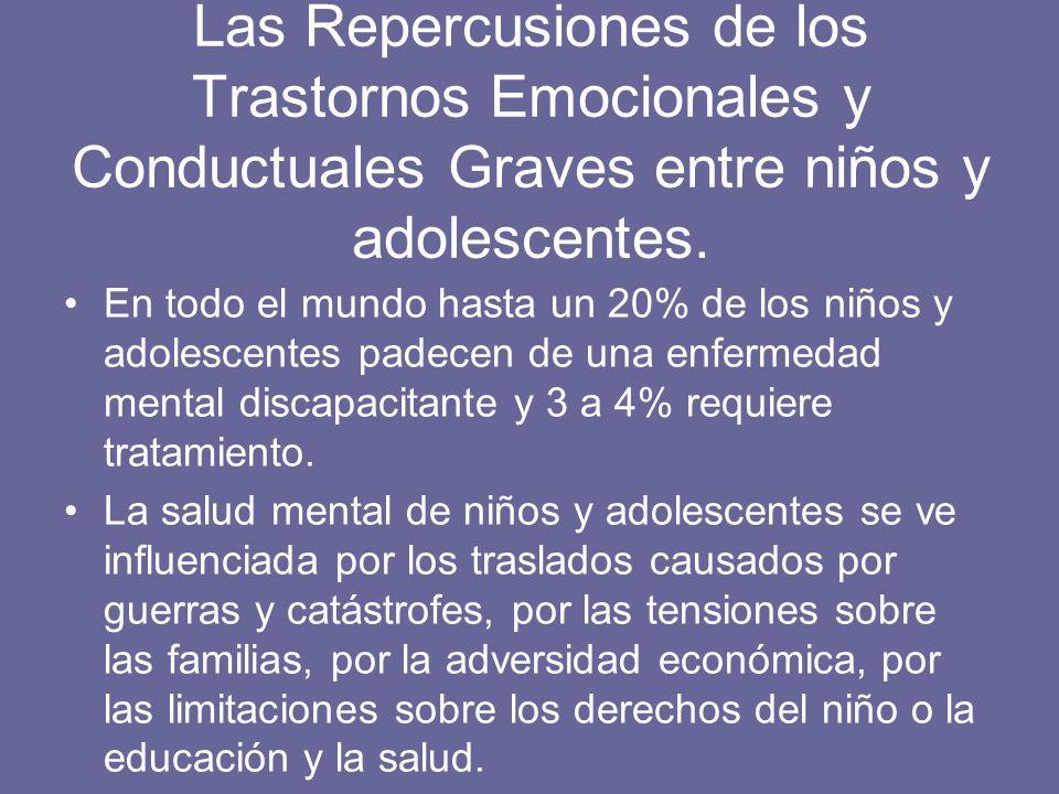 Las Repercusiones de los Trastornos Emocionales y Conductuales Graves entre niños y adolescentes.
