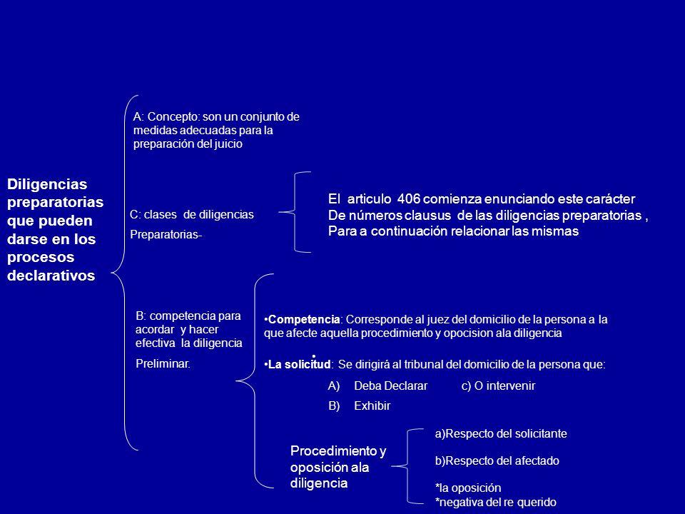 A: Concepto: son un conjunto de medidas adecuadas para la preparación del juicio
