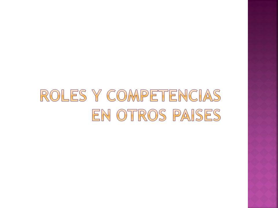 Roles y competencias en otros paises