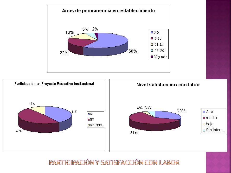 Participación y satisfacción con labor
