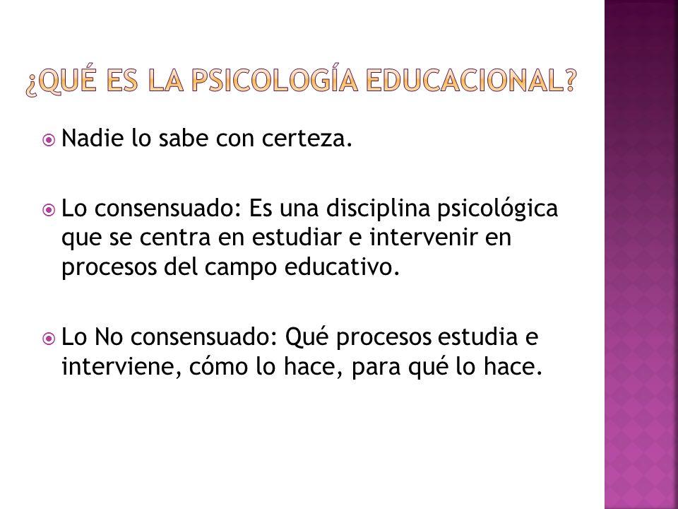 ¿Qué es la psicología educacional