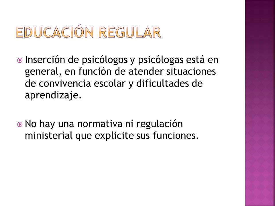 Educación Regular