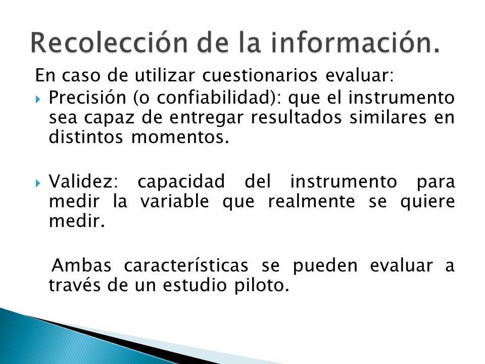 Recolección de la información.