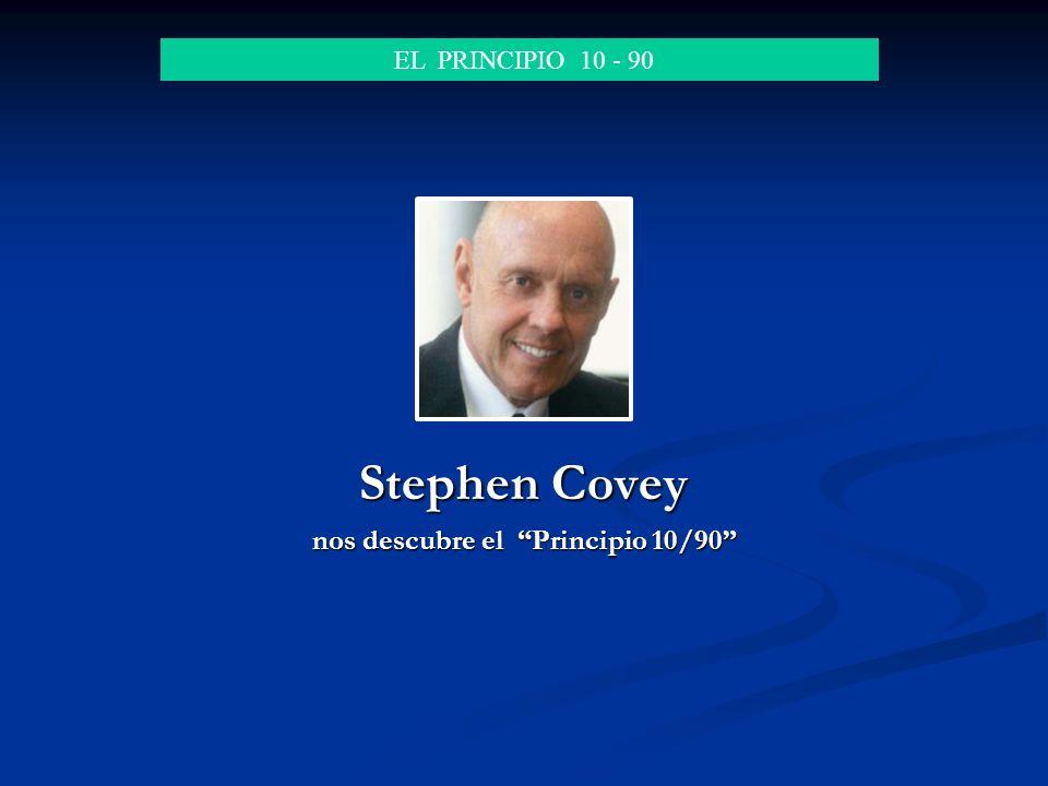 Stephen Covey nos descubre el Principio 10/90
