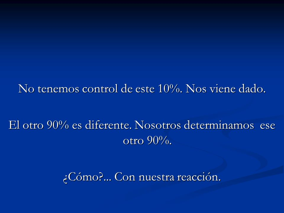 No tenemos control de este 10%. Nos viene dado.