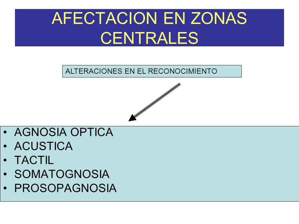 AFECTACION EN ZONAS CENTRALES