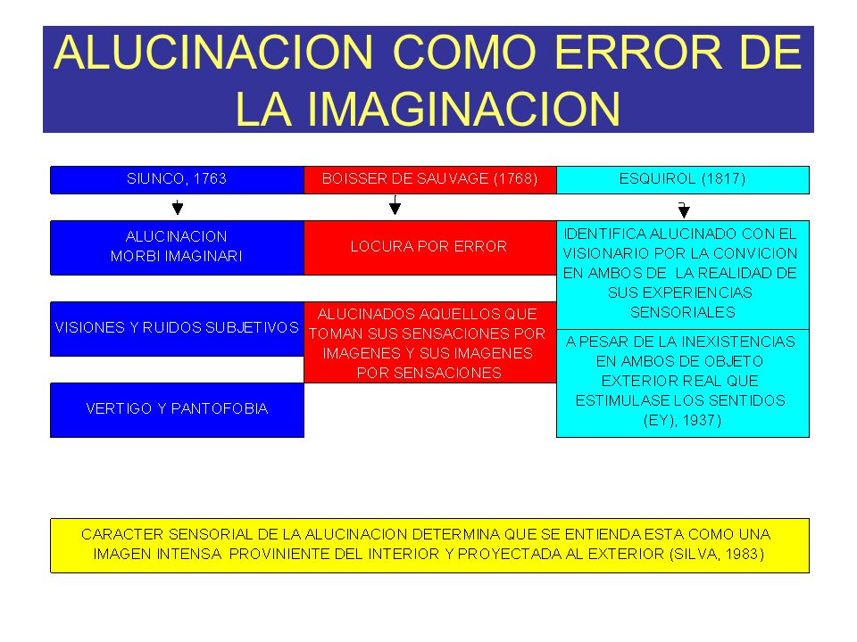 ALUCINACION COMO ERROR DE LA IMAGINACION