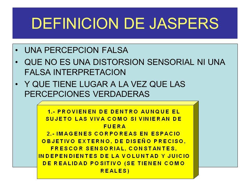 DEFINICION DE JASPERS UNA PERCEPCION FALSA