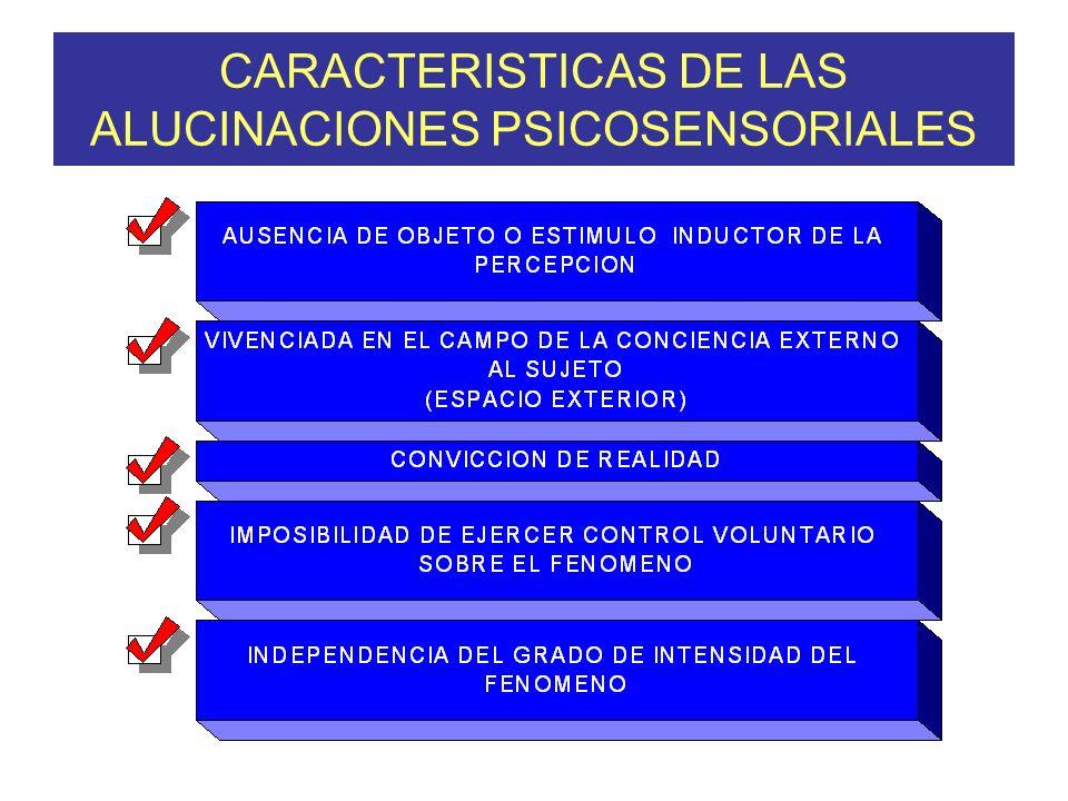 CARACTERISTICAS DE LAS ALUCINACIONES PSICOSENSORIALES