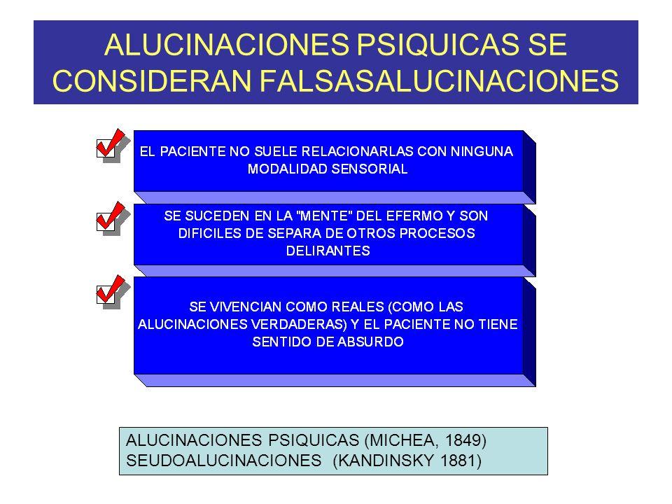ALUCINACIONES PSIQUICAS SE CONSIDERAN FALSASALUCINACIONES