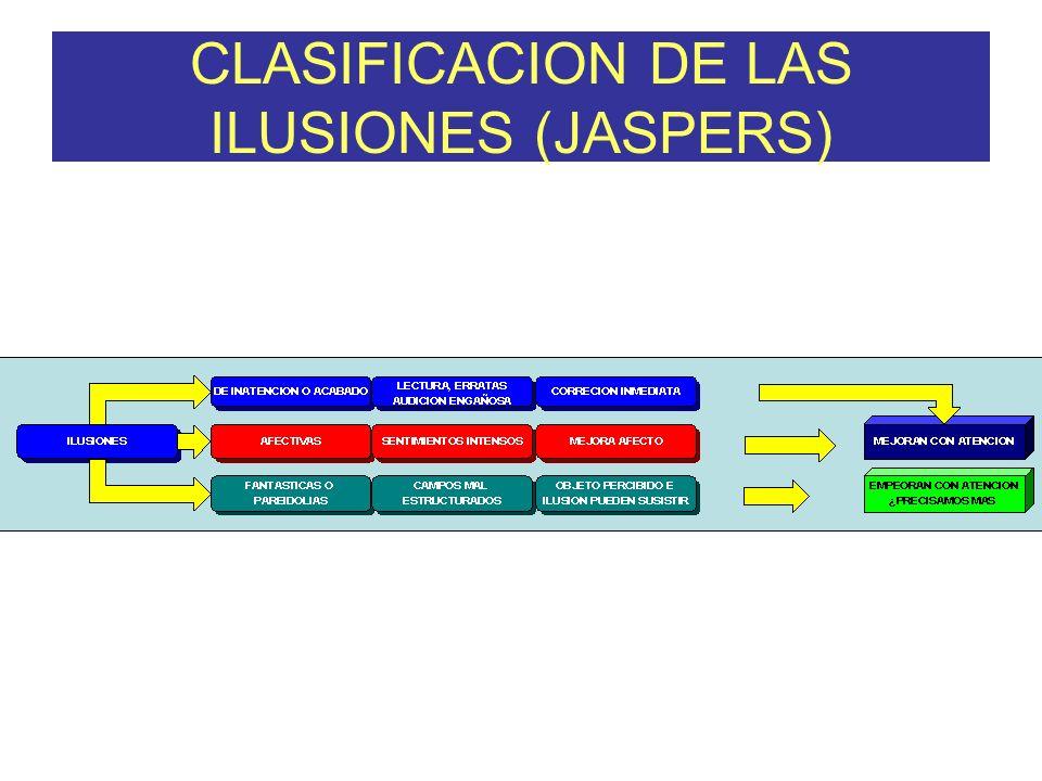 CLASIFICACION DE LAS ILUSIONES (JASPERS)