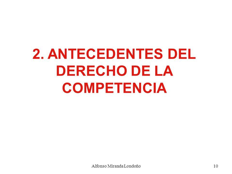 2. ANTECEDENTES DEL DERECHO DE LA COMPETENCIA