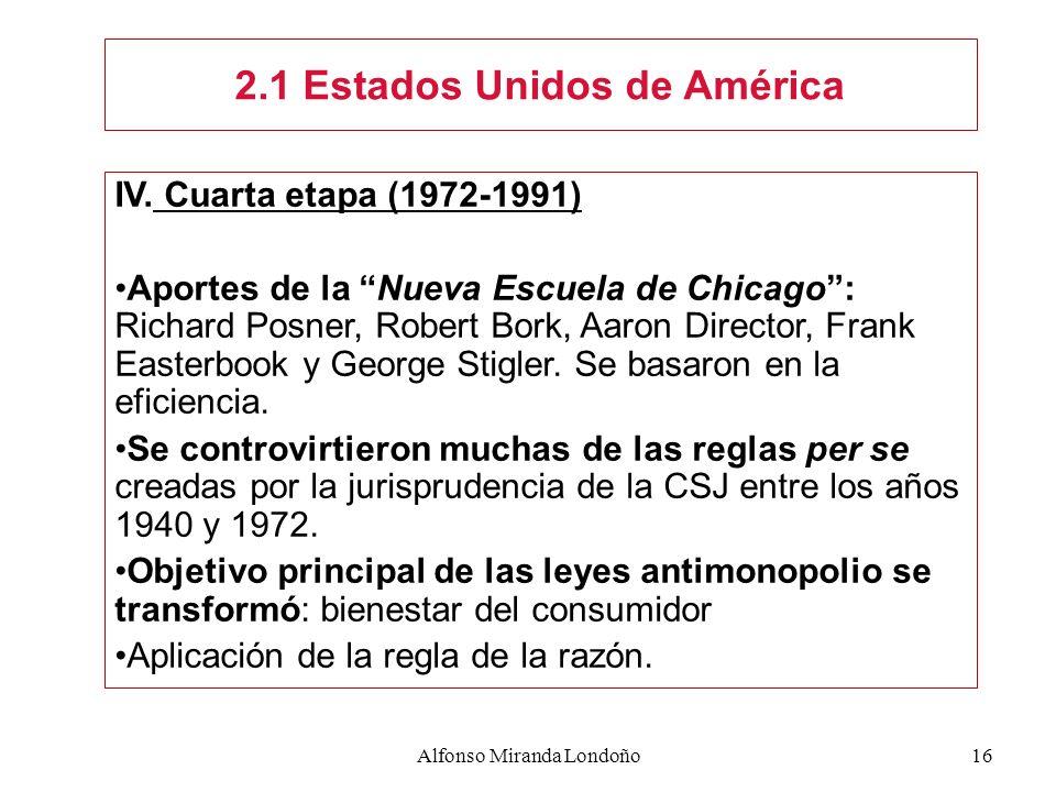 2.1 Estados Unidos de América