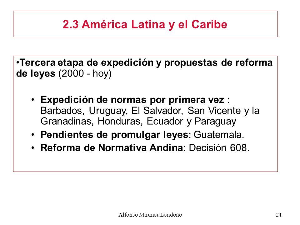 2.3 América Latina y el Caribe
