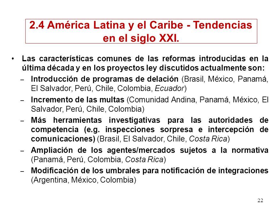 2.4 América Latina y el Caribe - Tendencias en el siglo XXI.