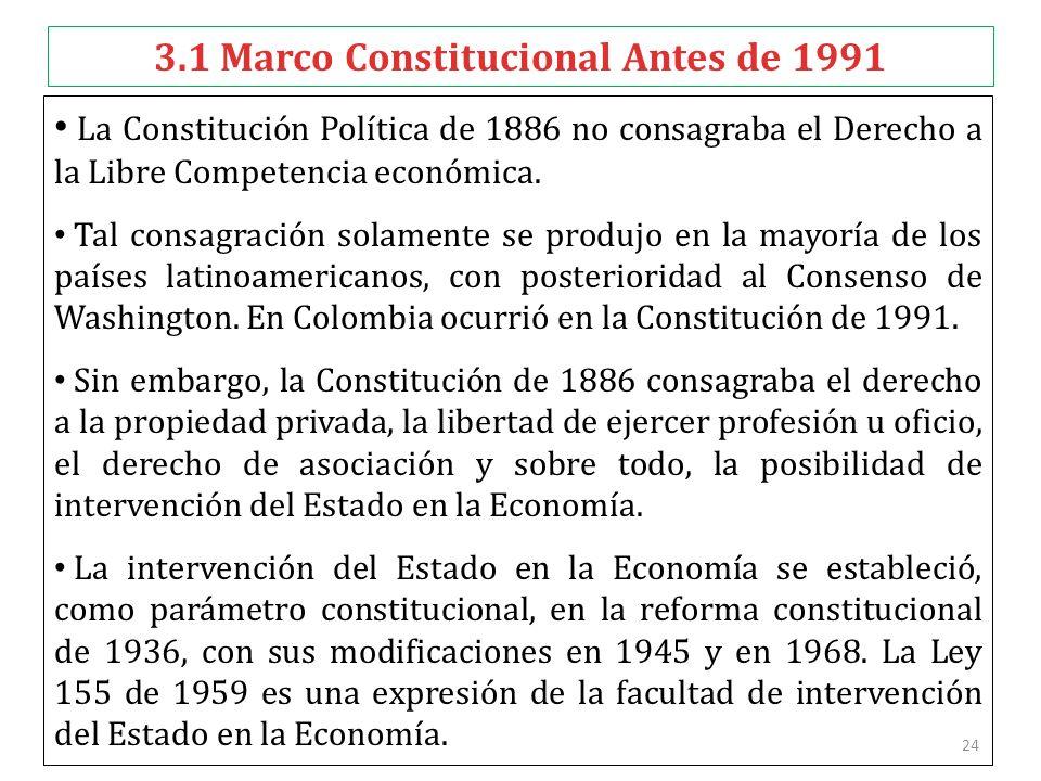3.1 Marco Constitucional Antes de 1991
