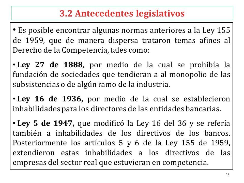 3.2 Antecedentes legislativos
