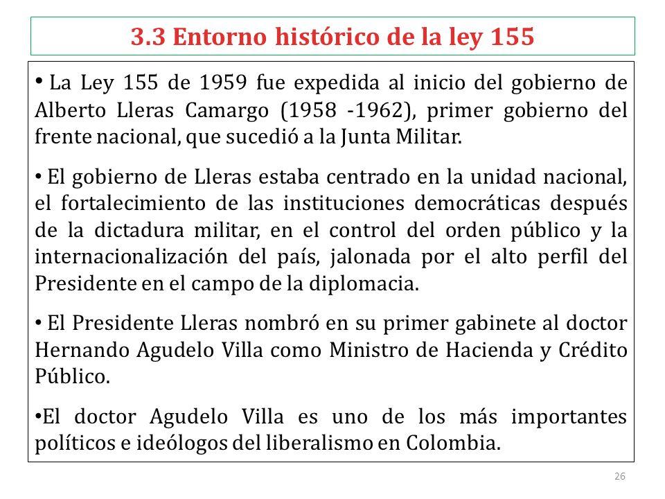 3.3 Entorno histórico de la ley 155