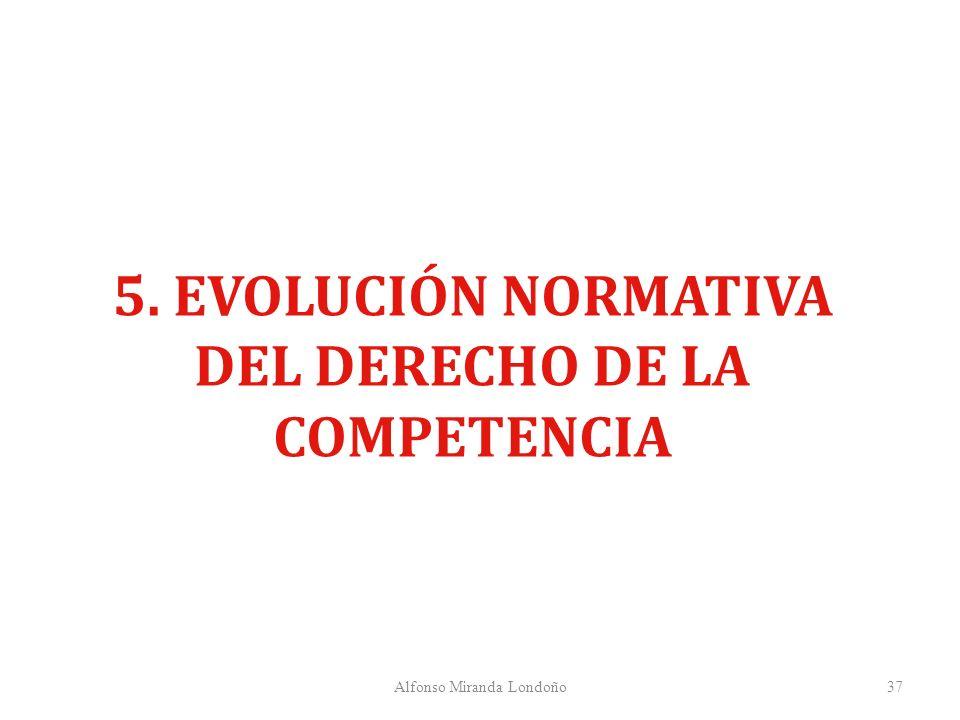 5. EVOLUCIÓN NORMATIVA DEL DERECHO DE LA COMPETENCIA