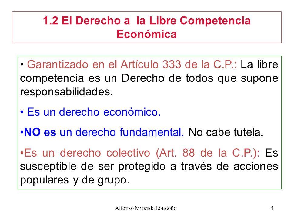 1.2 El Derecho a la Libre Competencia Económica