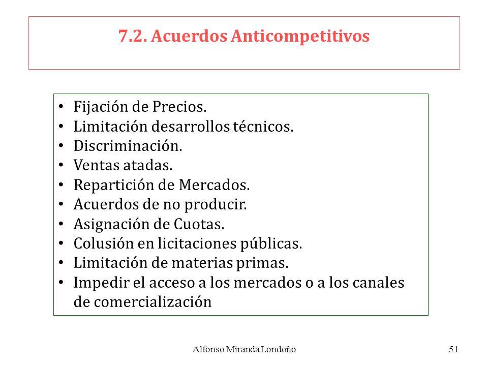 7.2. Acuerdos Anticompetitivos