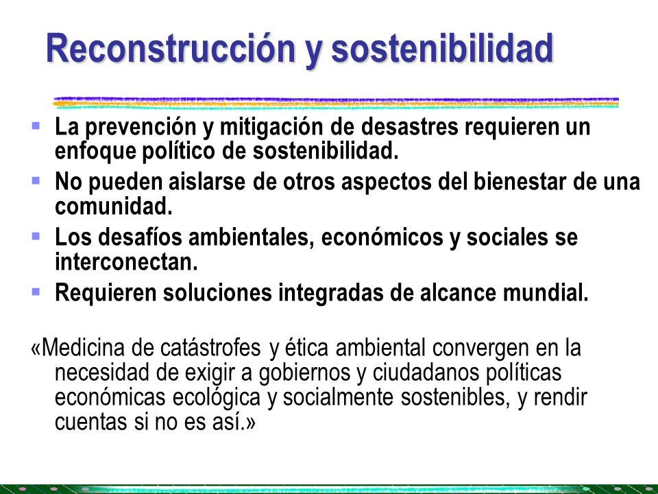 Reconstrucción y sostenibilidad