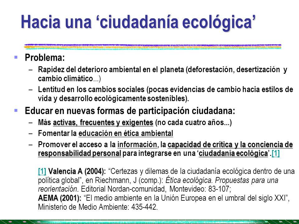 Hacia una 'ciudadanía ecológica'