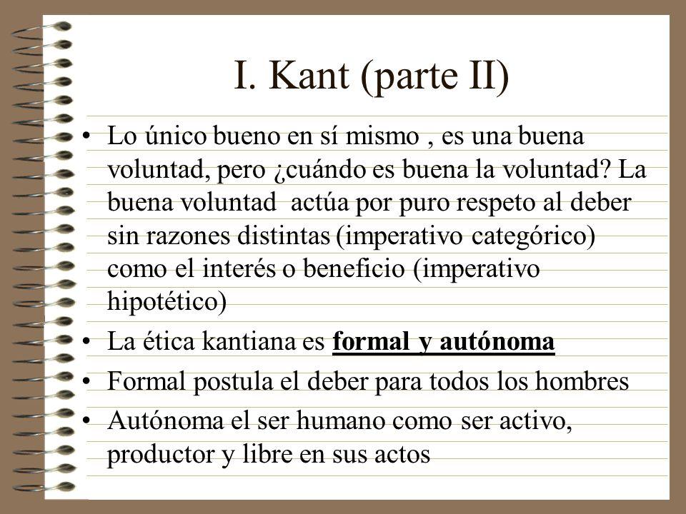 I. Kant (parte II)