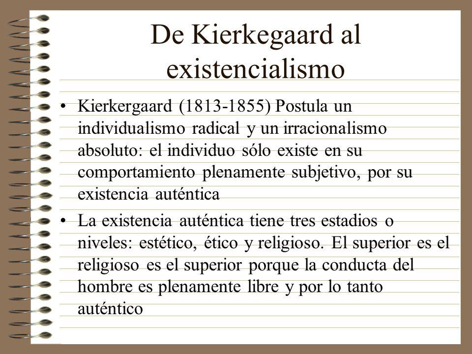 De Kierkegaard al existencialismo