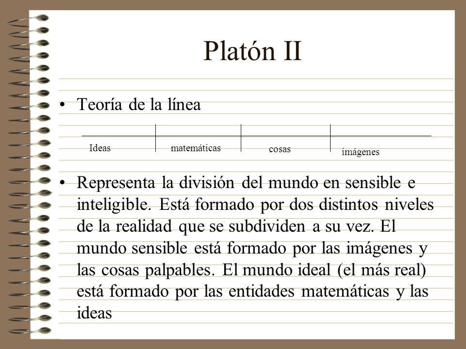 Platón II Teoría de la línea