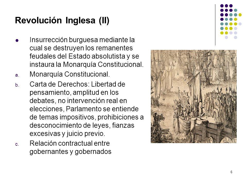 Revolución Inglesa (II)