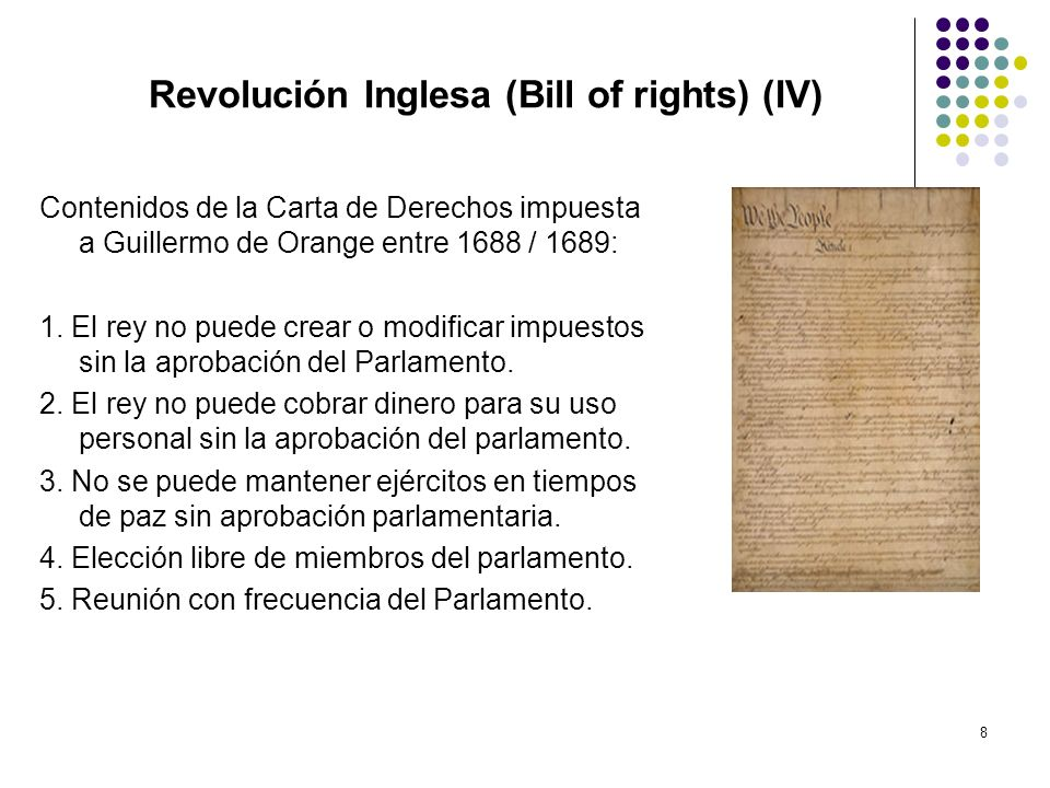 Revolución Inglesa (Bill of rights) (IV)
