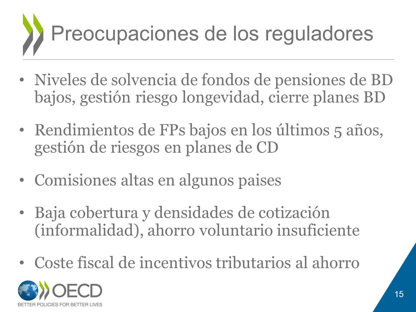 Preocupaciones de los reguladores