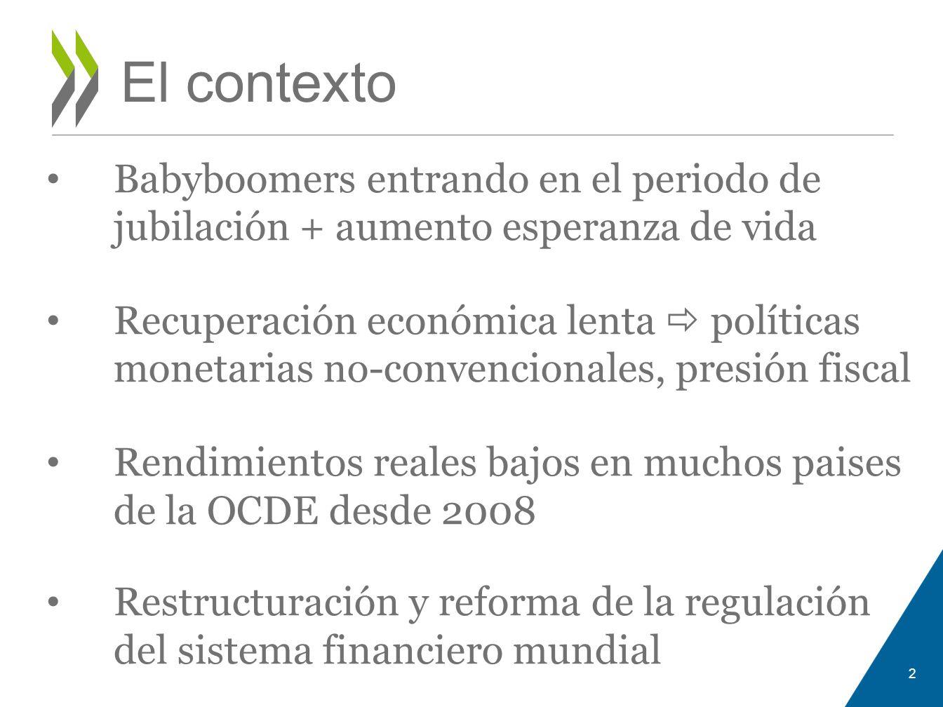 El contexto Babyboomers entrando en el periodo de jubilación + aumento esperanza de vida.
