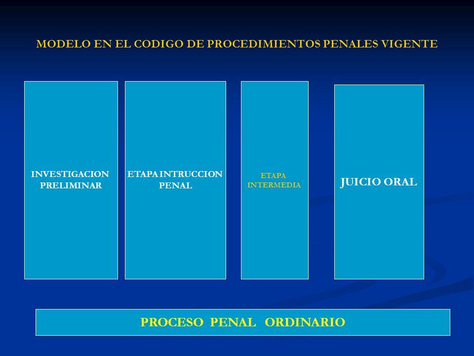 MODELO EN EL CODIGO DE PROCEDIMIENTOS PENALES VIGENTE