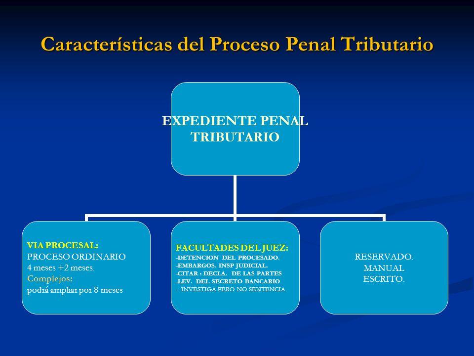 Características del Proceso Penal Tributario