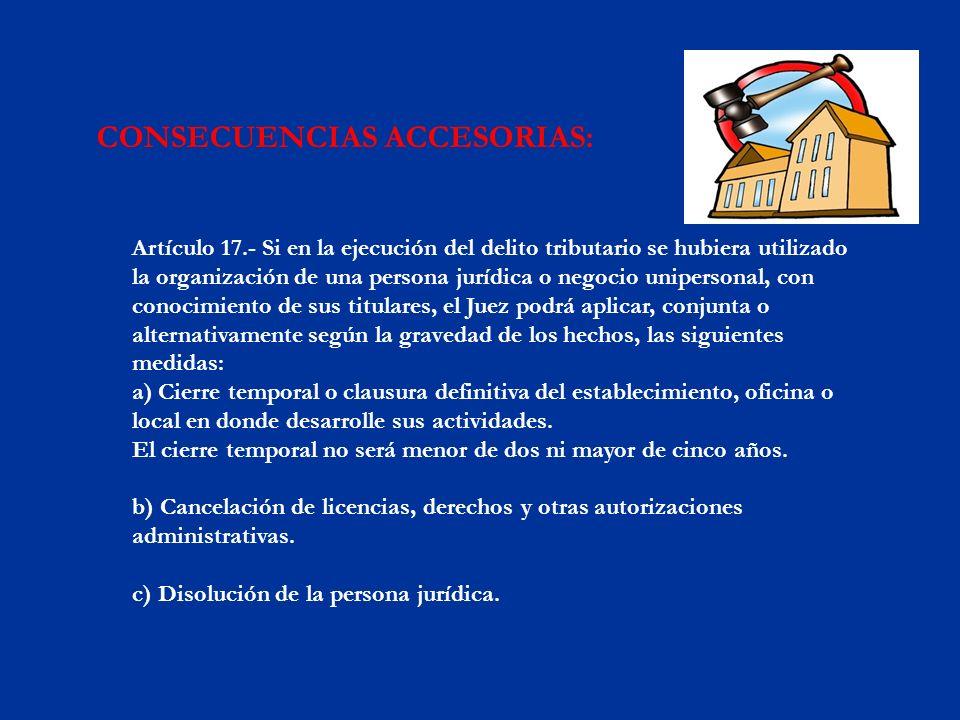 CONSECUENCIAS ACCESORIAS:
