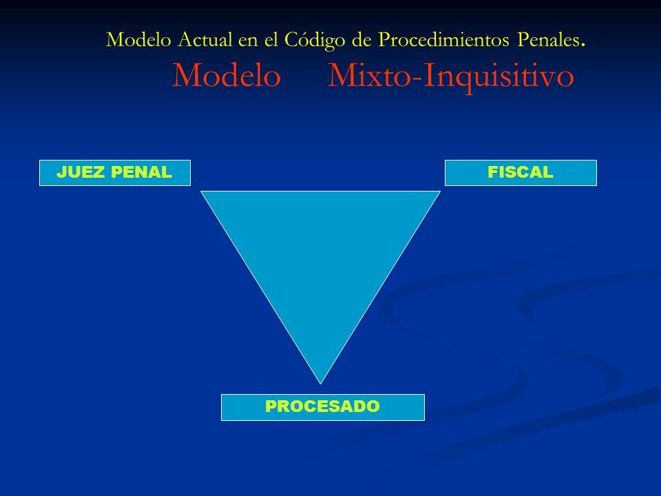 Modelo Actual en el Código de Procedimientos Penales
