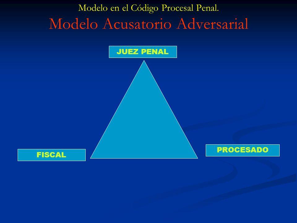 Modelo en el Código Procesal Penal. Modelo Acusatorio Adversarial