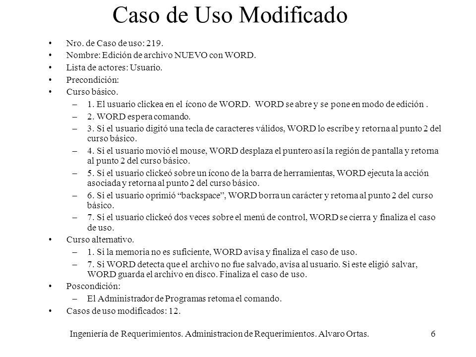 Caso de Uso Modificado Nro. de Caso de uso: 219.