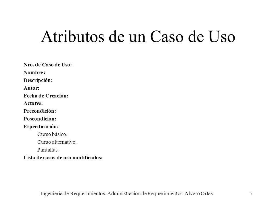 Atributos de un Caso de Uso