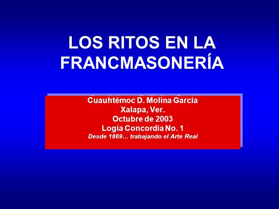 LOS RITOS EN LA FRANCMASONERÍA