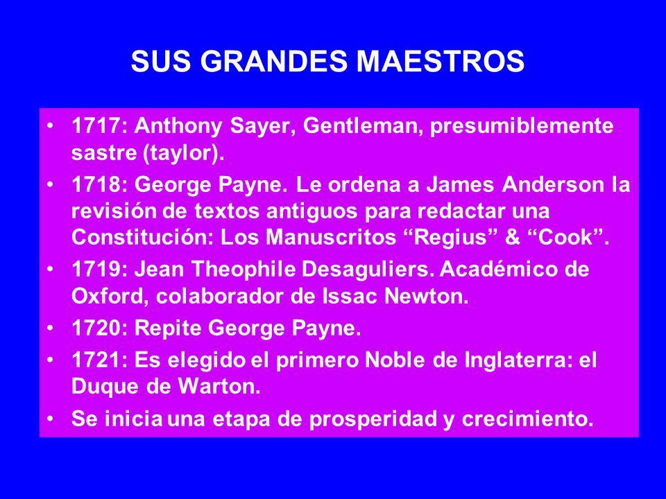 SUS GRANDES MAESTROS 1717: Anthony Sayer, Gentleman, presumiblemente sastre (taylor).