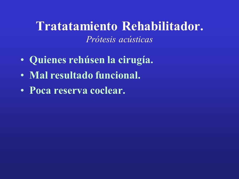 Tratatamiento Rehabilitador. Prótesis acústicas