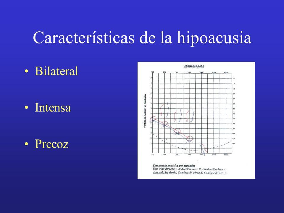 Características de la hipoacusia