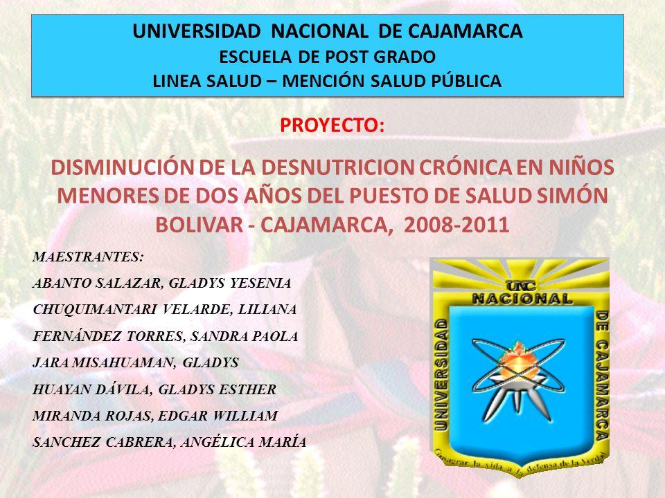 UNIVERSIDAD NACIONAL DE CAJAMARCA LINEA SALUD – MENCIÓN SALUD PÚBLICA