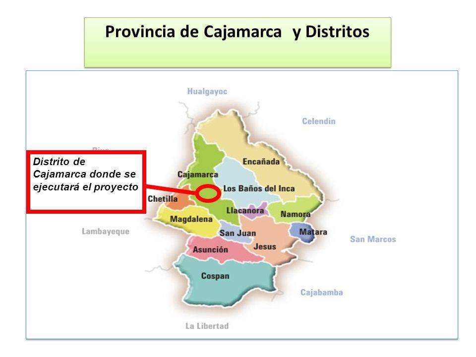 Provincia de Cajamarca y Distritos