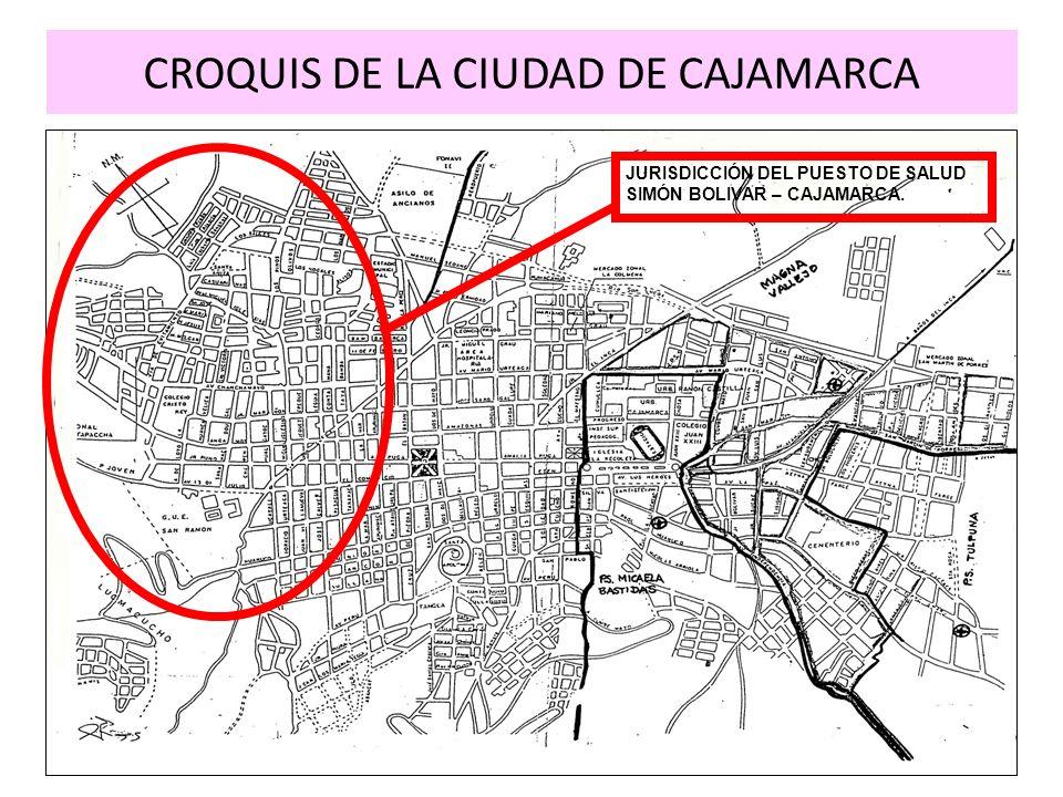 CROQUIS DE LA CIUDAD DE CAJAMARCA