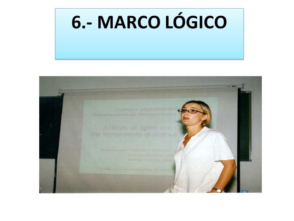 6.- MARCO LÓGICO