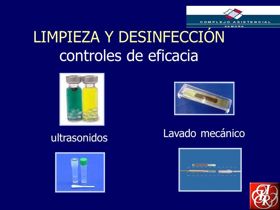 LIMPIEZA Y DESINFECCIÓN controles de eficacia